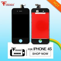 Wholesale Cheap Iphone 4s Wholesale - for iPhone 4 4S LCD Display & Touch Screen Digitizer Full Assembly Cheap Price Black White 10pcs lot Free DHL Ship