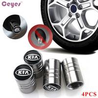 Wholesale Car Rio - Car Wheel Tire Valves Emgrand Emblem Badge for Kia rio ceed sportage cerato soul k2 Tyre Stem Air Caps Car Styling 4pcs lot