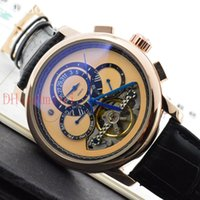 Wholesale Switzerland Watches Automatic - Men's luxury complex craft Tourbillon automatic watch, Switzerland Geneva high-quality blue pointer watch through the end of the watches