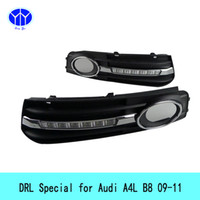 Wholesale Special Drl - Automobiles Car LED DRL Special For Audi A4L B8 2009-2012 Fog Lights Car Styling car-charger angel eye Daytime Running Light LED