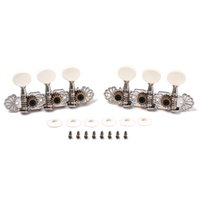 Wholesale Tuning Keys For Electric Guitars - String Tuning Pegs Keys Tuners Machine Heads for Classic Electric Guitar Replacement Open Style Folk Style Metal Buttons Chrome