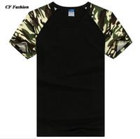 Wholesale Wholesale Designers Clothes - Wholesale-2016 new t shirt men designer camo brand clothing army tees t-shirt color short sleeve cotton tshirt homme hip hop 15 colors