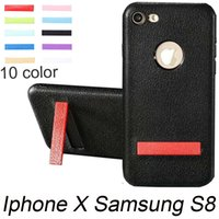 Wholesale Wholesale Iphone Goophone - New S8 Plus Ring Holder Cellphone Case For iPhone X 8 Plus Protective Cover TPU finger grip Goophone S8 edge Mobile Phone Case