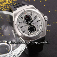 Wholesale Cheap Rubber Watch Straps - Cheap Best Watch Ingenieur Flyback IW378505 Racer Gent Watch Silberpfeil Automtic Silver Dial With Bezel Mens Watch Rubber Strap New Watches