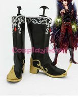 Wholesale Sleep Shoes - Wholesale-Cosplay Shoes Custom Made Anime 100 Sleeping Princes & The Kingdom of Dreams Leather Long Boots For Halloween