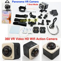 New Arrival Cube 360s Waterproof Action Camera WIFI H.264 Panorama 360 Degrees Camera VR Video 360x180 panorâmico Shot Sports Camera cube 360