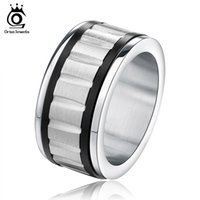 carved titanium rings - 2016 New Men s Ring Stainless Steel Punk Rock Ring Party Jewelry Carve Groove Titanium Cool Men Ring GTR15