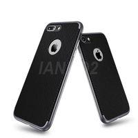 Wholesale Carbon Fiber Aluminum Case - New Design Phone Case for iPhone 7 Carbon Fiber Silicone Case with Aluminum Metal Frame Hybrid Bumper Case