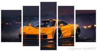 Digital printing spray your car - YIJIAHE Q79 Canvas Painting Art Pieces Yellow car Wall Art Pictures Print On Canvas Become Paintings To Decorate Your House Office ect