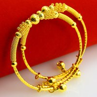 Wholesale Baby Crystal Bangle - Our baby baby bracelet Jewelry Gold Bracelet Gold Men's and women's shrinking moon age gifts