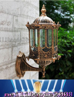 Incandescent outdoor light sconces - Bronze antique brass IP65 luxary American European outdoor sconce vintage classical waterproof wall light outdoor wall lamp LLFA