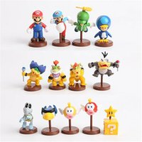 Wholesale Super Mario Action Figures Collection - NEW Super Mario Decoration Bros Luigi Action Figures 13pcs   set new arrival yoshi mario Gift Collection OPP