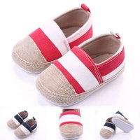Wholesale Linen Fabric Material - New Arrival High Quality Linen Material Anti-slip Patchwork Toddler Baby Walking Shoes For Girl and Boy Soft Sole Retail Wholesale
