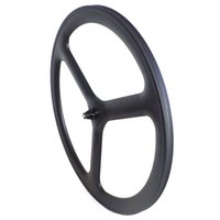 Wholesale Tubular Tri Spoke Front Wheel - 700c 3 spokes road bikes carbon wheels tri spoke carbon wheelset three spoke carbon wheels