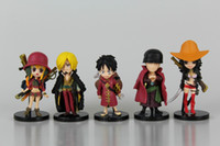 Wholesale One Piece Figures 5cm - New hot sale 9pcs set anime figure PVC toy one piece FILM Z Luffy Zoro Nami Usopp Sanji gift for children 5CM