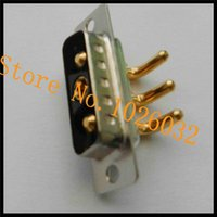 Wholesale Right Angle Power Connector - High Power D-sub Connector 3v3 Male D-Sub Combo Connector Right Angle Dip Type Currenting Rating=30A 20A