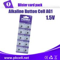 Wholesale Ag1 Battery For Watches - 5Pack 50Pcs PKCELL AG1 Batteries 364 SR621SW LR621 LR60 CX60 Button Batteries For Watches Batteries coin cell batteries