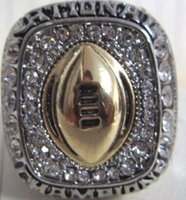 Wholesale Gold University Ring - free shipping Hot sale Top Quality Austria Crystal Rings Ohio State University Buckeyes Championship Rings Vintage Men Jewelry