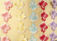 Wholesale Cotton Fabric Yard Flowered - 20 Yard 50mm Purl Embroidered Flower Clover shape Lace Cotton Fabric Trim For Sewing Apparel DIY Bridal wedding Doll Cap
