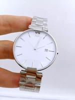 Wholesale Luxury Watch Couples - 2016 new men's women's stainless steel watch high-quality luxury brand watches waterproof couple watches student whole silver table