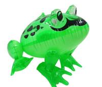 şişirilebilir büyük pvc toptan satış-LED şişme çocuk oyuncak şişme hayvan kurbağa açık bebek yüzmek havuzu oyuncak 28x29x36 cm boyutları büyük pvc malzeme çocu ...