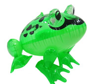 Wholesale Pool Materials - LED inflatable kids toy inflatable animal frog outdoor baby swim pool toy 28x29x36cm sizes big pvc material kids toys free shipping