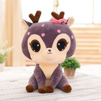 Wholesale Cute Deer Stuffed Animals - 13 Inches Tall Cute Plush Deer Doll Stuffed Animal Toys Large Sika Deer Plush Baby Dolls Birthday Valentine's Gift for Girlfriend