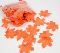 artesanato de folha venda por atacado-Chegam novas 100 Pcs Artificial Pano Folhas De Plátano Multicolor Outono Queda Folha Para Art Scrapbooking Decoração Da Parede Do Quarto Do Quarto Do Casamento Artesanato
