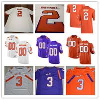Wholesale Kelly Manning - Mens Clemson Tigers College Football #2 Kelly Bryant Mark Fields 3 Amari Rodgers 16 Will Swinney 20 Jack White Purple Stitched Jersey S-3XL