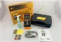 Wholesale Ultrasonic Thickness Meter Gauge Velocity - Wholesale-Multifunction TM130D Protable Digital Ultrasonic Thickness Gauge Meter Sound Velocity Measurement Range 1.2~220mm Width Tester