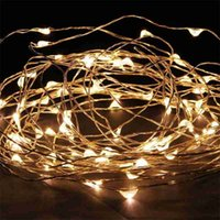 Wholesale Curtain Colors - Edison2011 8 Colors 5M 50Leds Silver Copper Wire LED String Light Starry Lights Fairy Light Outdoor Xmas Party Garden NightLight