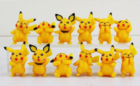 Wholesale Finish Order - Poke Pikachu Version Mini Figure Toys PVC Doll Collective Toys Best Gifts For Kids 12pcs set 3.5-5cm Min Order 120pcs