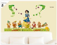 Wholesale Large Snow White Wall Sticker - Wall decal PVC glass paste wall stickers living room bedroom decoration snow white background Cartoon Decorative children's room wall art
