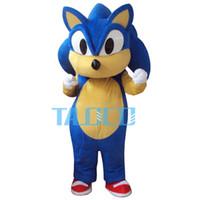 Wholesale Sonic Fancy Dress - Wholesale-High quality Sonic Mascot Costume Cartoon Fancy Dress Adult Siz Free Shipping