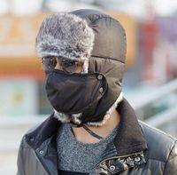 Wholesale Winter Hats Flaps - High Quality Winter Warm Sport Outdoor Ear Flaps Bomber Caps Unisex Proof Trapper Hat Snow Ski Hat Cap Russian Hat