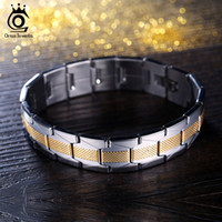 Wholesale Gold Jewelrys - New Fashion Style Stainless Steel 18K Gold Plated Bracelet for Men's Gift Personality Personality Jewelrys GTB07