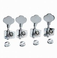 Wholesale Electric Guitar Parts Knobs - Bass parts electric bass tuning twist open bass guitar head knob Quasi coil strings are right silver