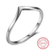 Wholesale Mixed Order Rings For Women - Wholesale 5pcs Lot Size 6 7 8 New 925 Sterling Silver Midi Rings for Women Irregular Design Rings Mix Order