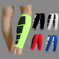 Wholesale Sport Compression Leg - Wholesale-1PC Base Layer Compression Leg Sleeve Shin Guard Men Women Cycling Leg Warmers Running Football Basketball Sports Calf Support