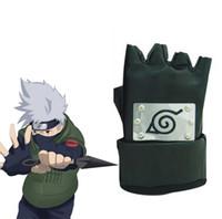 Wholesale Konoha Cosplay Naruto - Wholesale-Free Shipping Naruto Hatake Kakashi Konoha Ninja A pair of Black Gloves Anime Cosplay Accessories