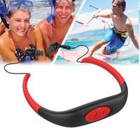 Wholesale Waterproof Mp3 Swimming - Sport Waterproof 8GB Swim Diving Underwater MP3 Player FM Radio Earphone headset New 8GB Waterproof MP3 Music Player