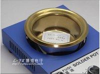 Wholesale Tin Solder Pot - free ship! 300W solder pot tin melting furnace thermor egulation stainless steel 100mm 200 ~ 450 centigrade