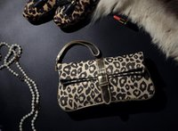 Wholesale Dress Evening Day - AC780 clearance modern fashion sexy leopard prints foldable canvas multifunctional day clutch dress evening bag wristlet strap