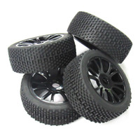 Wholesale Rc Losi Cars - 4pcs 17mm Hub Wheel Rim & Tires Tyre for 1 8 Off-Road RC Car Buggy XRAY LOSI HSP