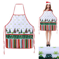 Wholesale Sleeveless Aprons - Christmas Aprons Xmas Decoration Aprons for Adults Women And Men Dinner Party Cooking Apron Kitchen Accessories