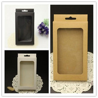 Wholesale Iphone Plain Covers - Universal Phone Case Cover Package Box Plain Kraft Brown Paper Packing Boxes For iPhone 6 6S 7 plus SE 5S Samsung S6 S7 edge S5 s4 Note 4 5