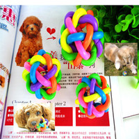 Wholesale Bump Toys Wholesale - pet toy ball Pet Dog Cat Toy Colorful Rubber Round Ball with Small Bell Toy bite resistance bumps talking toys 6cm