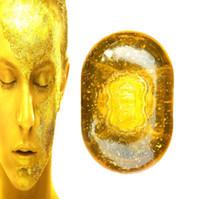 sabão anti-acne venda por atacado-Óleo Essencial natural 24 K Sabão de Clareamento Da Pele Sabonete de Banho Facial Relaxado e Endurecimento Da Pele Controle de Óleo Saudável Sabonetes DHL Frete Grátis