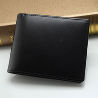 Wholesale Men Checkbook - Luxury MB wallet Hot Leather Men Wallet Short wallets MT purse card holder wallet High-end gift box package