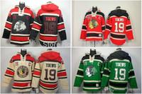 Wholesale Hockey Jersey Style Hoodie - 2016 2014 New Arrival Style!Discount Chicago Blackhawks hooded Jerseys #19 Jonathan Toews Old Time Hockey Hoodies Sweatshirts fleece